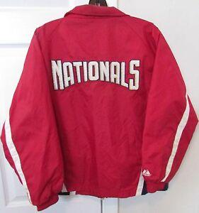 MLB Washington Cittadini Cerniera Intera Giacca Misura Ragazzi Large Da Majestic