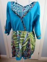 New JOE BROWNS Tunic Top Size 24 Plus Festival Boho Crinkle Cotton MADE IN INDIA