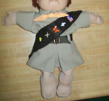 """BROWNIE GIRL SCOUT OUTFIT VNTG shirt skirt hat sash++ for 16"""" CPK Cabbage Patch"""
