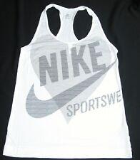 NIKE Sportswear White Tank Sleeveless T-Shirt MEDIUM M Running Yoga Sports