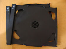 """Case: Tabbed CD Tray Inserts """"2CD"""" Right Hand Hinged  - 2 For 2 Discs Each Black"""