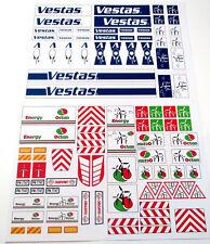 CUSTOM STICKERS for Vestas WIND TURBINE / WINDMILL MODELS, Lego 4999 7747, ETC
