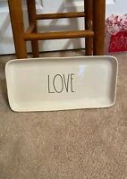 "New RAE DUNN ""Love""  Rectangular Plate Platter Trinket Tray Valentine's Day"