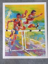 LEROY NEIMAN HAND SIGNED OFFSET LITOGRAPH OF FIELD AND TRACK EVENT 1976