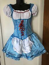 Womens Girls Dorothy Wizard of Oz sz S/M good quality with Crinoline And Garter