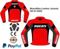 Men Ducati Jacket Motorcycle Riding Jacket CE Leather jacket GE-47-2020(US38-48)