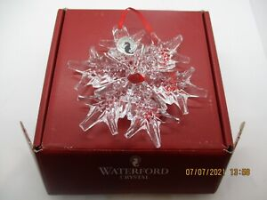 Waterford Crystal Ornament SNOWFLAKE--LOT#R4