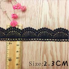 1/10 yards Black  Crochet Lace Chain Trim Wedding Bridal Ribbon Sewing Craft