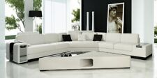 Ledersofa Couch Wohnlandschaft Ecksofa Eck Garnitur Design modern Sofa G8017