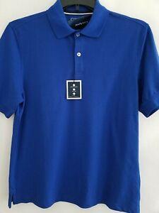 Club Room Mens Small Blue Stretch Moisture Wick UPF 50+ Easy Care Polo Shirt