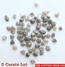 100% NATURAL Loose Rough Diamonds RARE Fancy Grey uncut raw real 2.50mm 5crts