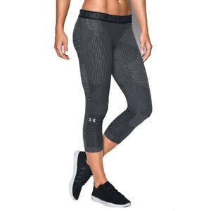 Under Armour UA Favorite Printed Capri Grey Sports Training Running Leggings