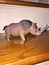 "Plastic 7.5"" Sumatran Asian Two Horned Rhinoceros Toy Science Nature Unique"