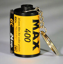 KODAK KEYCHAIN MADE FROM RECYCLED 35 MM FILM CANISTER, KODAK MAX 400 FILM 24 EXP