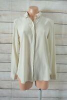 COS Shirt Top Blouse Size 36 Medium 10 12 Beige Long Sleeve Silk