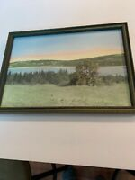 Charles Sawyer Hand Colored Photograph Lake Seymour Morgan Vermont Very Rare