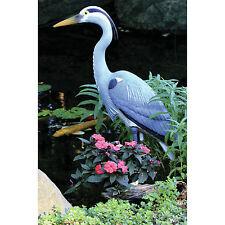Garden Decor Statues Heron Bird Resin Decoy Lawn Ornament Fade Resistant Outdoor