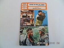 CARTE FICHE CINEMA 1979 VOYAGE AU BOUT DE L'ENFER Robert de Niro John Cazale