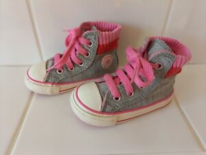 Girl's Converse All Star High Top Trainers Size UK 4 (Infants)