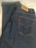 vintage mens dark wash LEVIS 505 straight leg orange tab made usa 38 × 30 Nice