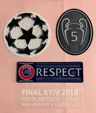 Liverpool FC Final Kiev 2018 Champion League Respect Sleeve Soccer Patch Badge