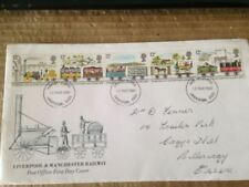 Fancy Cancel Trains, Railroads British First Day Covers