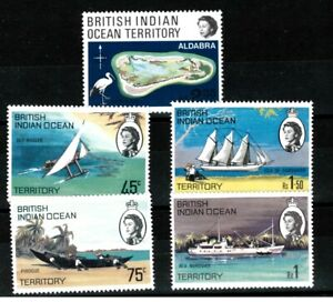 BRITISH INDIAN OCEAN TERRITORY - 1969 CORAL ATOLLS & LOCAL SHIPPING stamps MNH