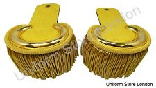 Shoulder Board all Gold with Gold Wire Fringe Sold Pair R766