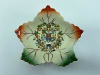 Vintage Dominioin of Canada Souvenir Collectors Maple Leaf Shaped Dish