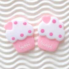 "US SELLER - 12 pc x (1 1/8"") Resin Ice Cream Flatback Beads/Sweet/Cupcake SB531P"