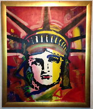 Statue of Liberty, Modern Art, huile sur toile, artiste inconnu