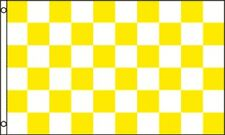 3'x5' CHECKERED FLAG YELLOW & WHITE OUTDOOR INDOOR BANNER PENNANT SPORTS NEW 3X5