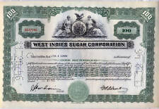 West Indies Sugar Corporation Stock Certificate