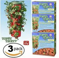 Topsy Turvy STRAWBERRY HANGING PLANTER Upside Down Swivel Top - Pack of 3