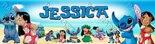 Personalized Lilo and Stitch Name Banner Art Decor Glossy Poster
