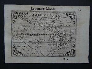 1609 LANGENES  Atlas map  AMERICA - Le Nouveau Monde