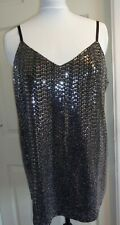 NEXT BLACK SILVER SEXY SPARKLY TOP FULLY LINED SIZE 20 HOLIDAY CLUB CRUISE