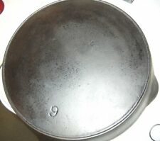 Early Wagner Sidney Cast Iron Skillet #9 Seasoned & Cleaned Restored Excelle