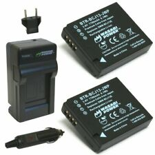 Wasabi Power Battery (2-Pack) and Charger for Panasonic DMW-BCJ13