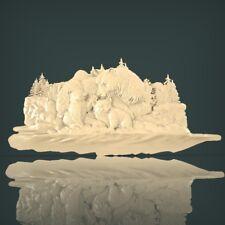 (635) STL Model Bear for CNC Router 3D Printer Artcam Aspire Bas Relief