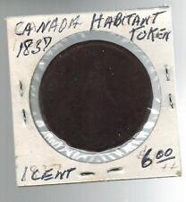 1837 Habitat Canada 1 Penny Token