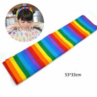 Rainbow Colour Bandanas Headband Headwear Gay Pride Headscarf Cotton Hair Decor