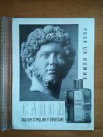 PUBLICITE ANCIENNE PUB ADVERT CLIPPING - PARFUM POUR HOMME DE CARON