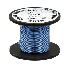 Blue Beading Copper Craft Wire 0.50mm (24 AWG) 25 Metre Reel (C101/5)
