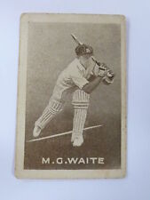 ORIGINAL 1930S CRICKET TRADING CARD / M G WAITE - AUSTRALIA .. GRIFFITHS SWEETS