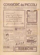 CORRIERE DEI PICCOLI 19 FEBBRAIO 1911 anno III NUMERO 8 CON SOVRACOPERTINA SPED