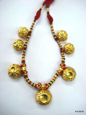 Necklace traditional tribal jewelry vintage 22kt gold beads