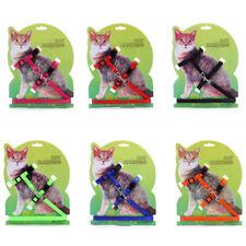 Cat Kitten Adjustable Harness Collar Durable Animal Walking Lead Pet Rabbit