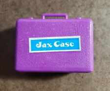 Vintage Mini Jax n' Ball Case  Play Set Toy Jack Rocks & Balls - Purple Case