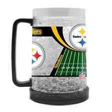 Nfl Pittsburgh Steelers Crystal Krug Mug Cup Beer Freezer Football Pils